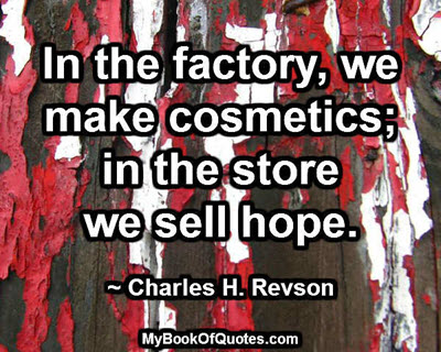 In the factory, we make cosmetics