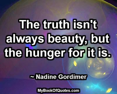The truth isn't always beauty