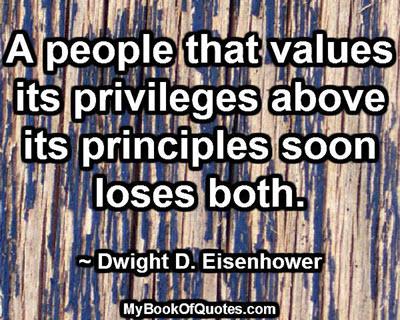 Privileges above principles