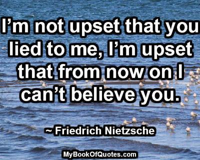 I'm not upset