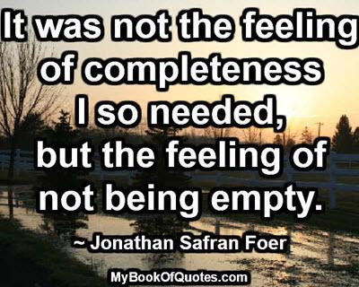It was not the feeling