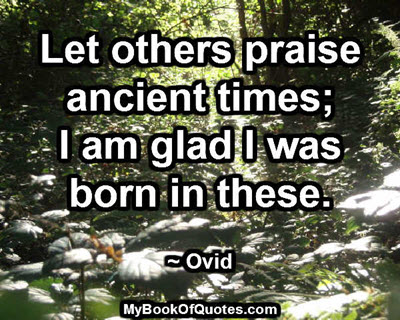 Let others praise
