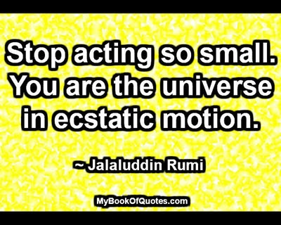 Stop acting so small