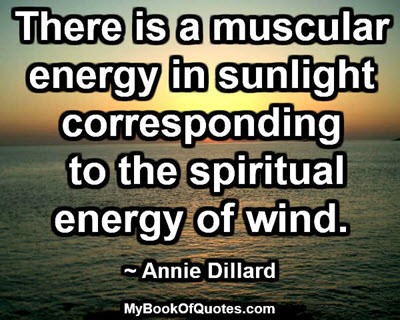 There is a muscular energy in sunlight