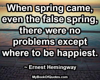 When spring came