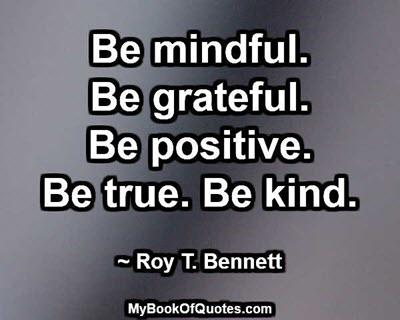 Be mindfuld