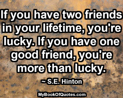 If you have two friends