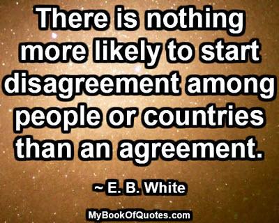 Disagreement among people