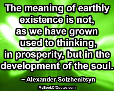 Development of the soul