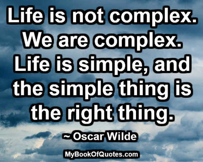 Life is not complex
