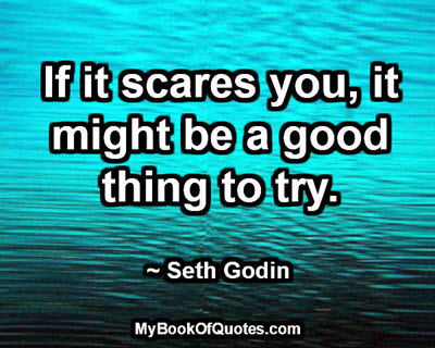 If it scares you, it might be a good thing to try. ~ Seth Godin