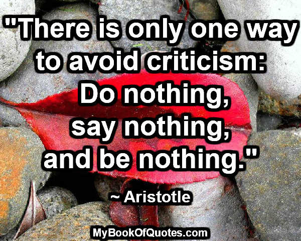 one-way-to-avoid-criticism
