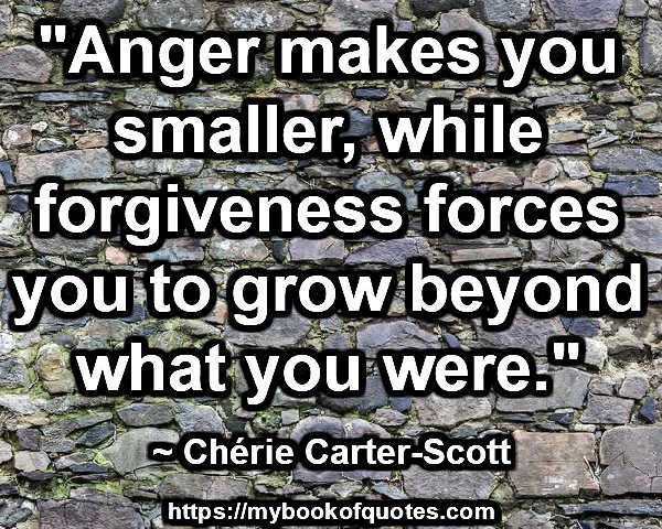 anger makes you smaller