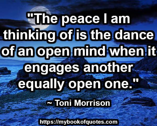 the peace I'm thinking of