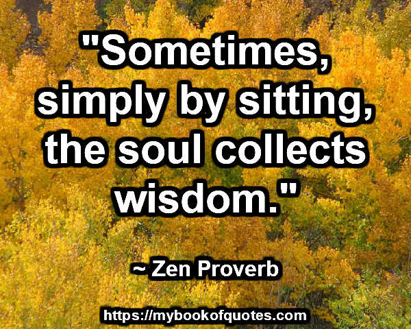 the soul collects wisdom