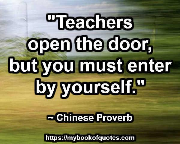 teachers open the door