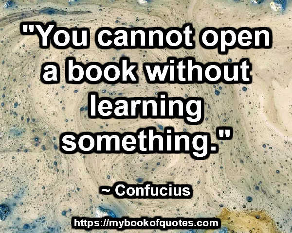 you cannot open a book
