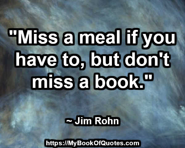 don't miss a book