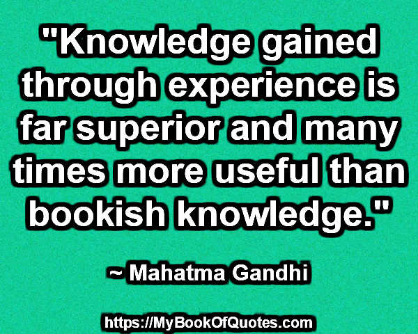 knowledge gained through experience