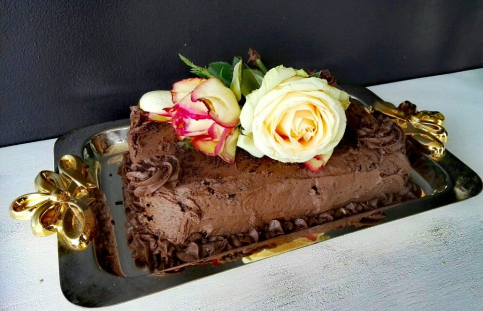 decadent chocolate cake - some of the wonderful items at fine pasteries