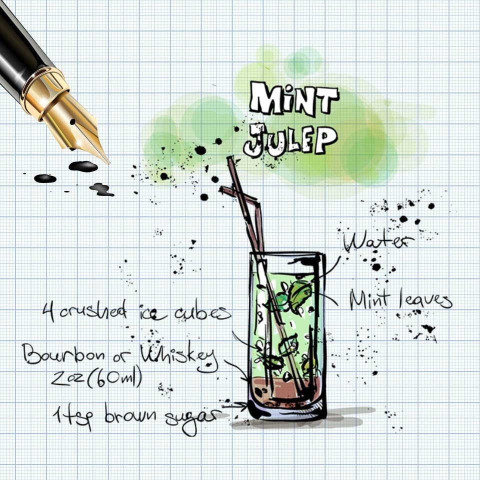 Mint cocktail freshly picked from your garden