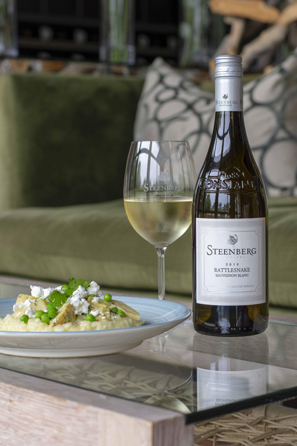steenberg white wine paired with risotto