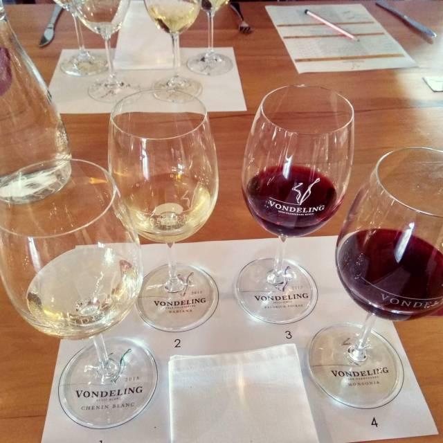 Wine pairing at Vondeling