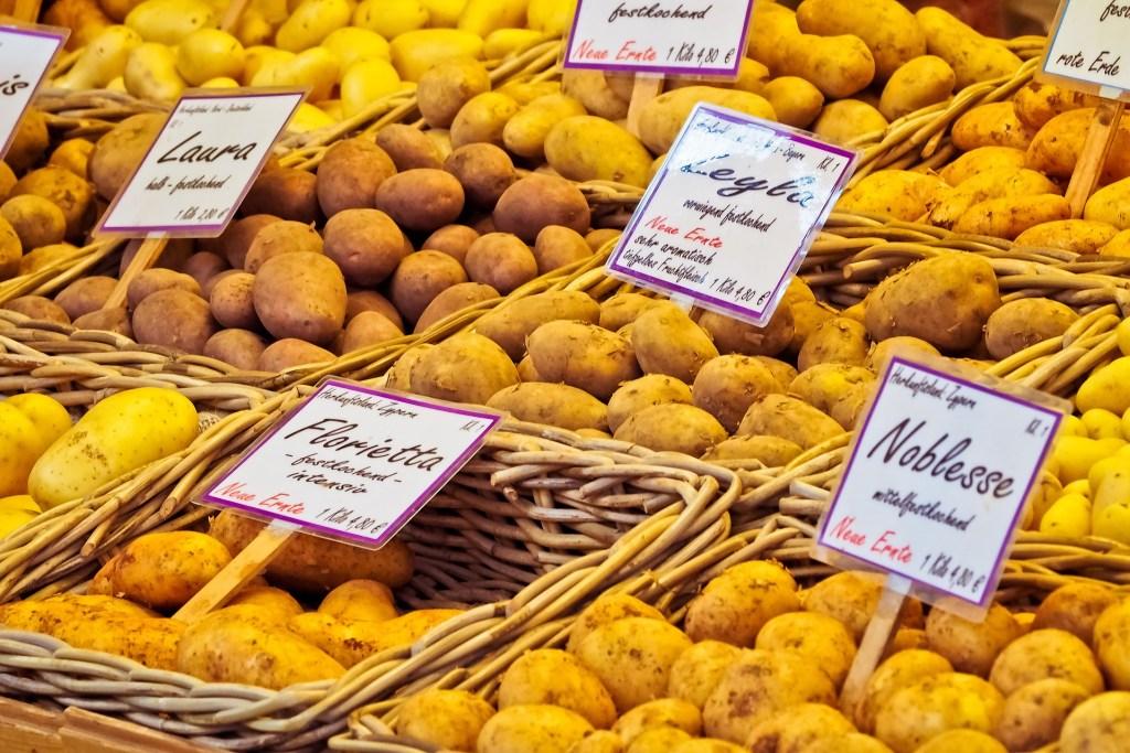 potatoes at the market