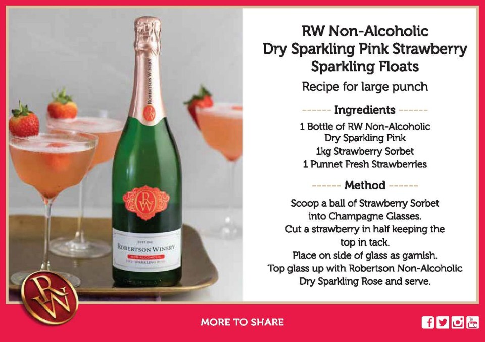 Non Alcoholic Cocktail with Non Alcoholic Sparkling Wine