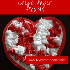 Crepe Paper Hearts
