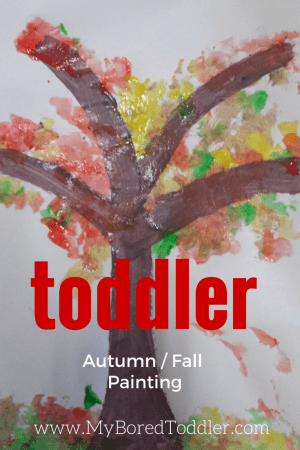 toddler autumn fall craft