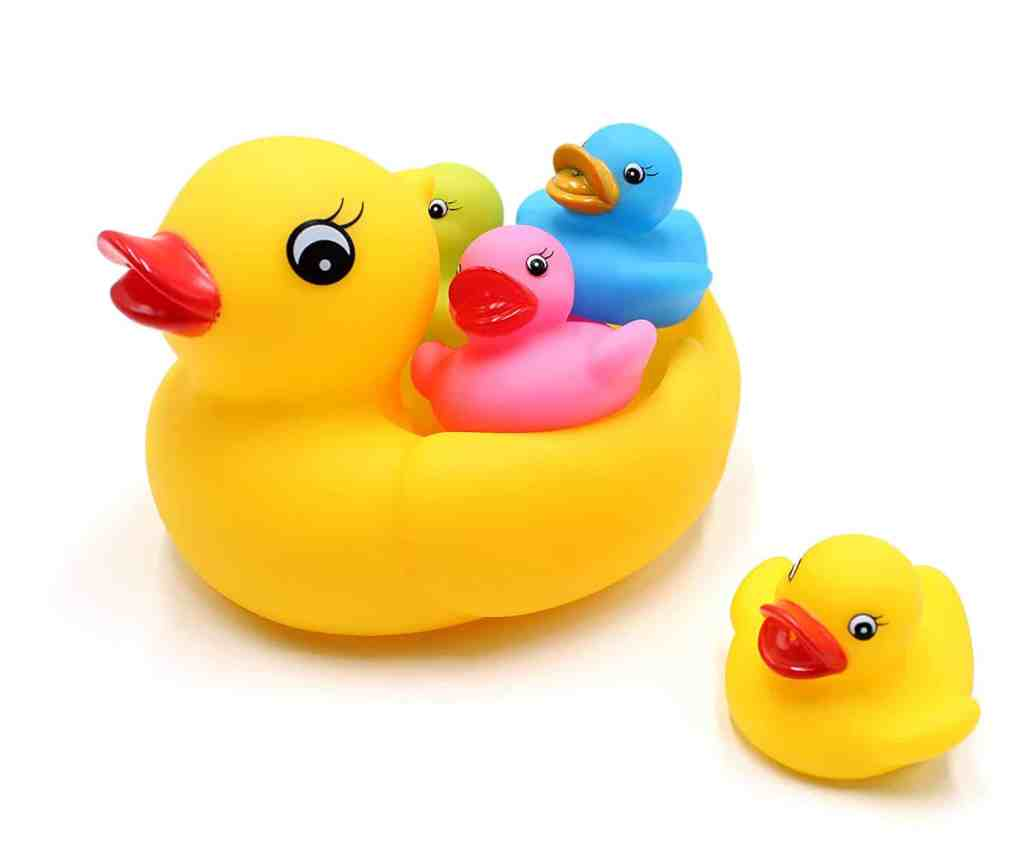 5 little ducks bath toys for toddlers