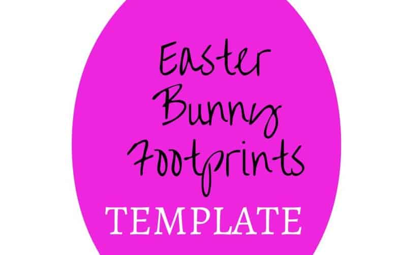 picture regarding Printable Easter Bunny Footprints named Easter Bunny Footprint Stencil - My Bored Child