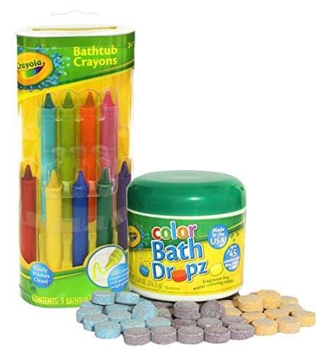 crayola bath crayons and bath drops