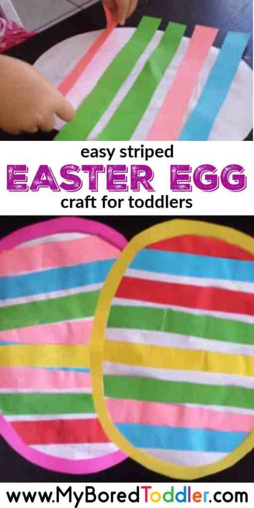 easy striped easter egg craft for toddlers to make
