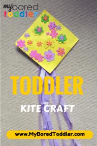 toddler spring craft activity kite