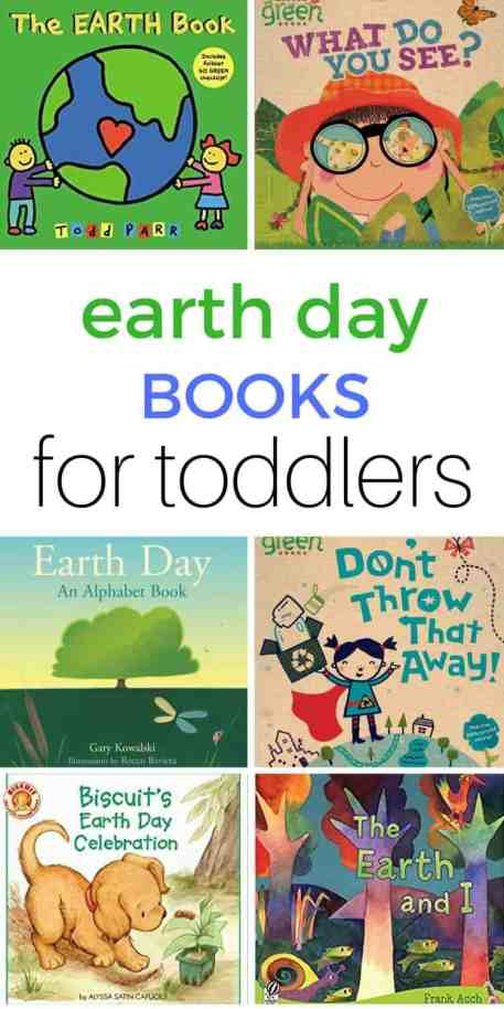 Earth Day books for toddlers. A collection of the best toddler books on recycling, Earth day, saving the planet and other nature ideas.