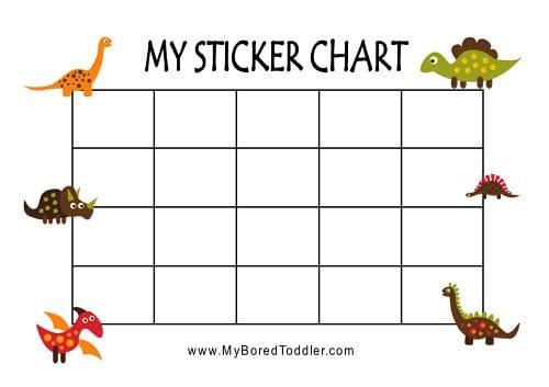 graphic regarding Free Printable Sticker Charts named Printable Advantage Charts - My Bored Baby