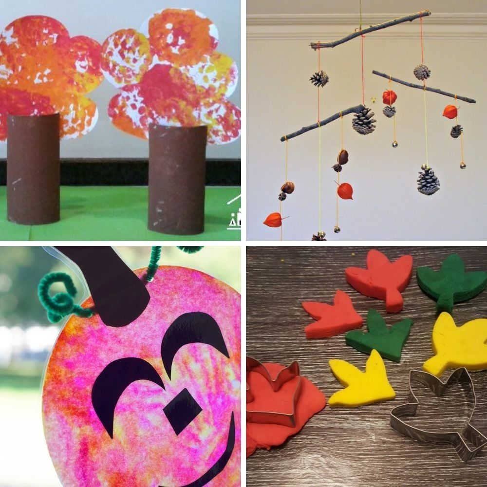 easy toddler fall crafts and activity ideas for 1 year olds, 3 year olds, 2 year olds