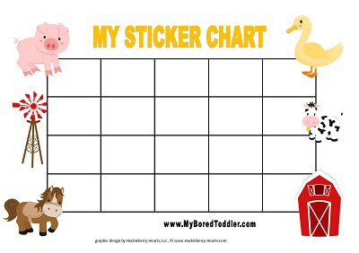 farm reward chart for toddlers