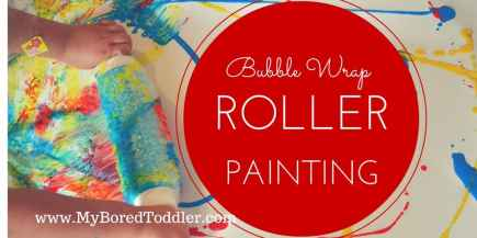 bubble wrap roller painting