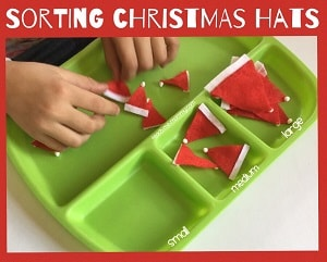 Christmas hat sorting