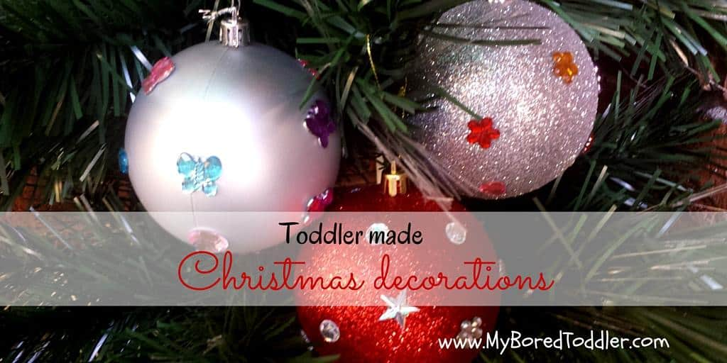 Christmas craft for toddlers – decorations