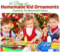 home made kids ornaments