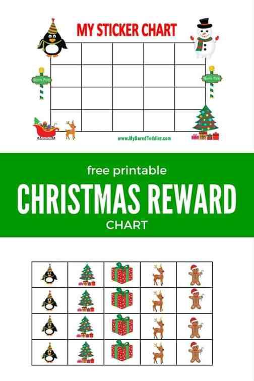 printable reward chart christmas pinterest