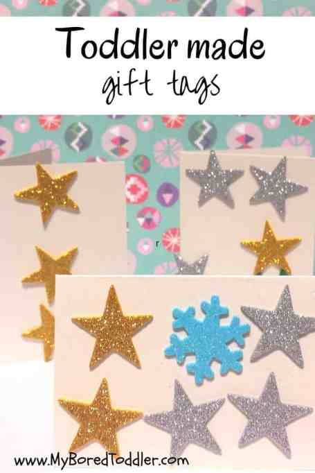 christmas craft for toddlers gift tags