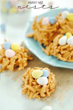 Easter egg haystacks