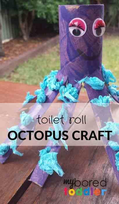 Toddler Craft Activity Octopus Toilet Roll Craft