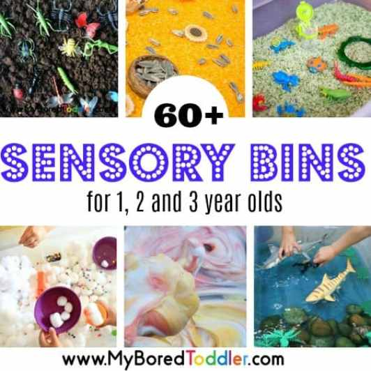 sensory bins for 1 2 and 3 year olds toddlers preschoolers