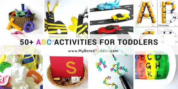 50 ABC Activities For Toddlers